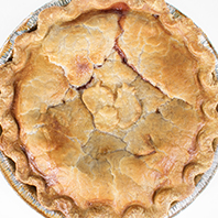 Apple, raspberry and strawberry pie