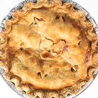 Apple, cranberry and pear pie
